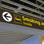 smoking place sign, airport bigboard